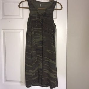 Dresses & Skirts - All tied up Z supply camo dress